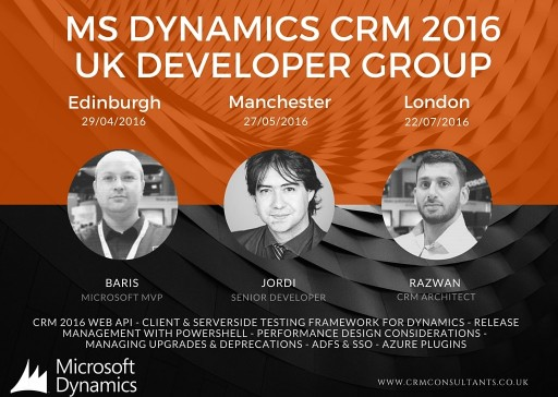 Dynamics CRM 2016 UK Developer Group