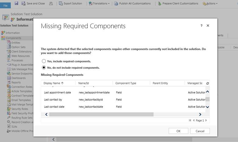 Improving Release management with Solutions in Dynamics CRM 2016
